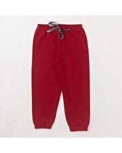Calça Fantoni Básica Vermelho em Moletom