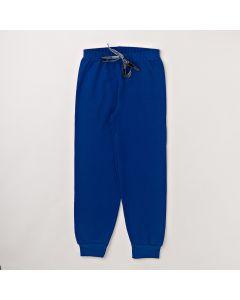 Calça Fantoni Básica com Punho Azul em Moletom