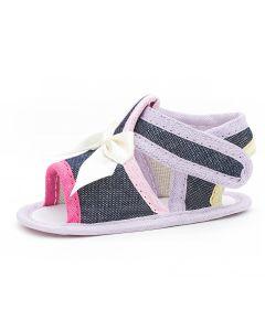 Sandália de Bebê Baby Gut em Jeans e Lilás