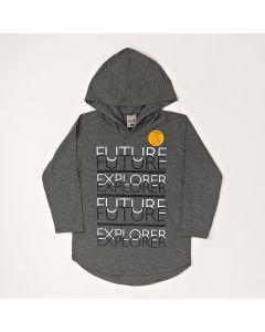 Camiseta Infantil Kamylus Explorer em Meia Malha Mescla
