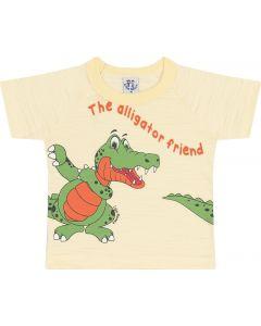 Camiseta Bebê Alligator em Flamê Amarelo