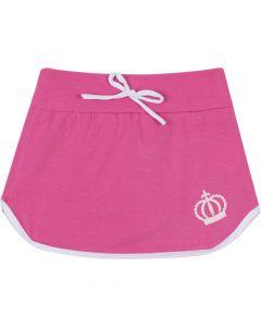 Saia Infantil com Cordão em Cotton Pink