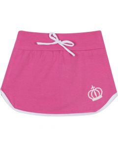Saia Infantil 4 a 8 anos com Cordão em Cotton Pink