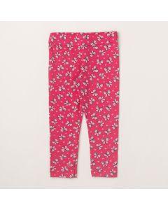 Calça Lik Kids Legging Laço Rosa em Cotton