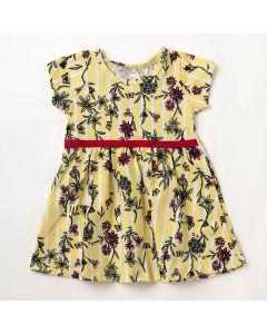 Vestido Bebê Verão Elian Flores Amarelo
