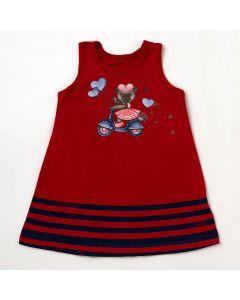 Vestido Bebê Verão Elian Urso Vermelho