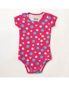 Body Bebê Verão Elian Poá Pink