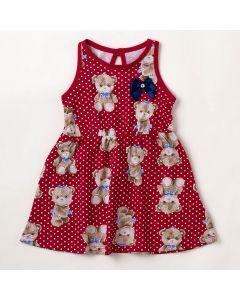 Vestido Bebê Verão Elian Bear Vermelho