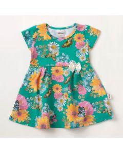 Vestido Bebê Verão Elian Estampado Verde