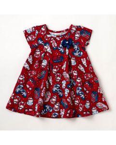 Vestido Bebê Verão Elian Shoes Vermelho