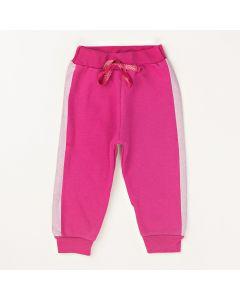 Calça Pimentinha Básica Pink em Moletom