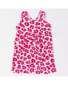 Vestido Fantoni Regata Oncinha Transpassado nas Costas em Cotton Pink