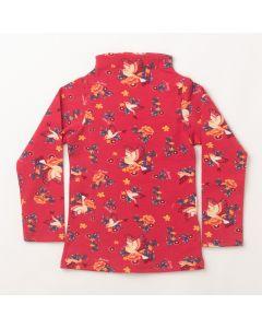 Blusa de Inverno Infantil Feminina Estampada Rosa em Cotton