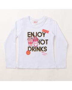 Blusa Feminina Infantil Branca com Estampa