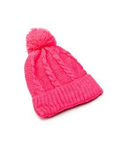 Touca de Bebê em Lã Rosa Pink