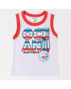 Camiseta Regata Fantoni Ocean em Meia Malha Branco