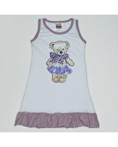 Camisola Viston Kids Bear em Meia Malha Branco