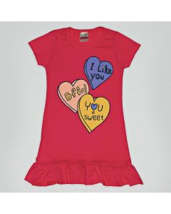 Camisola Viston Kids I Like You em Meia Malha Pink