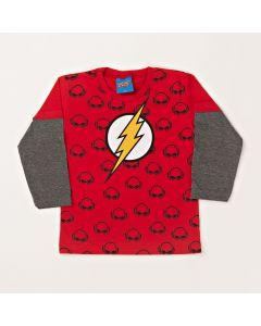 Camiseta Infantil Kamylus Flash em Meia Malha Vermelha