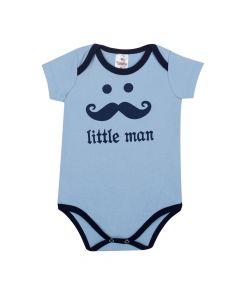 Bodie Bebê Algodão Mini Shake Little Man Azul