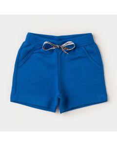 Bermuda para Bebê Menino Azul com Bolso