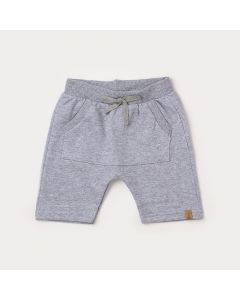 Bermuda Infantil Masculina Cinza com Bolso