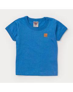 Blusa Azul para Bebê Menino Básica