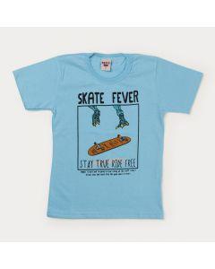 Camiseta Azul Skate Infantil Masculina