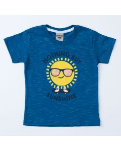 Blusa Azul Estampada Infantil Masculina