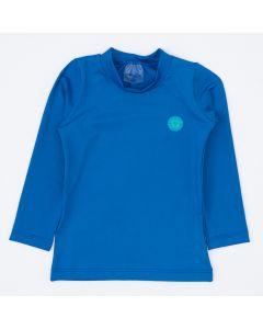 Blusa Azul com Proteção UV 50+ Manga Longa para Menino