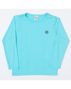 Blusa Azul Básica com Proteção UV Infantil Masculina