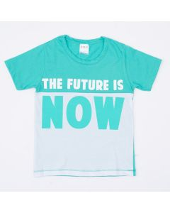 Camiseta Infantil Masculina Verde e Estampada