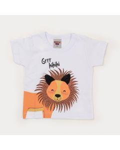 Camiseta Branca para Bebê Menino Leãozinho