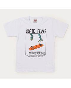 Camiseta Branca Skate Infantil Masculina