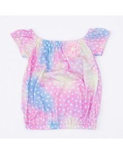 Blusa Ciganinha Tie Dye Infantil Feminina