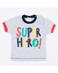 Camiseta Cinza para Bebê Menino Estampada