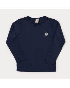 Blusa com Proteção UV Infantil Masculina Marinho