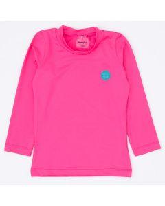 Blusa Pink com Proteção UV 50+ Manga Longa para Menina
