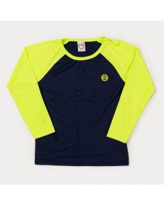 Blusa Infantil Masculina com Proteção UV Marinho