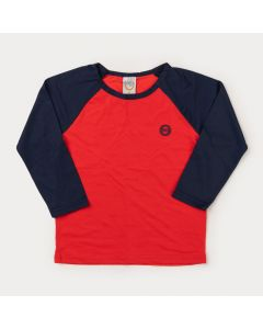 Blusa com Proteção UV para Menino Vermelha