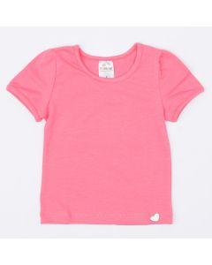 Blusa Básica Rosa para Menina