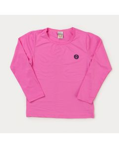 Blusa Rosa com Proteção UV Infantil Feminina