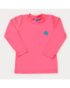 Blusa Rosa Neon com Proteção UV para Menina