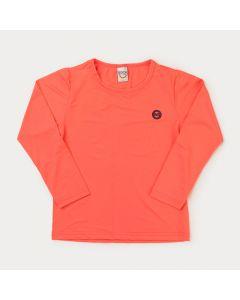Blusa com Proteção UV Infantil Feminina Salmão