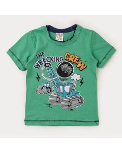 Camiseta Verde para Menino Estampada