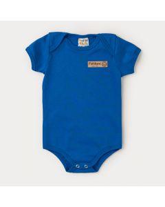 Body Básico Azul para Bebê Menino