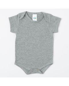 Body Cinza Unissex de Verão Básico para Bebê