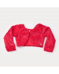 Bolero de Pelo Vermelho para bebê Menina