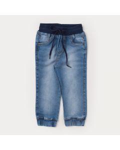 Calça Jeans Jogger para Menino com Cós de Ribana