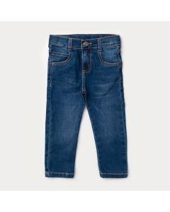 Calça Jeans Infantil Masculina Azul Escuro com Regulagem Interna